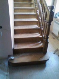 Лестница из древесины